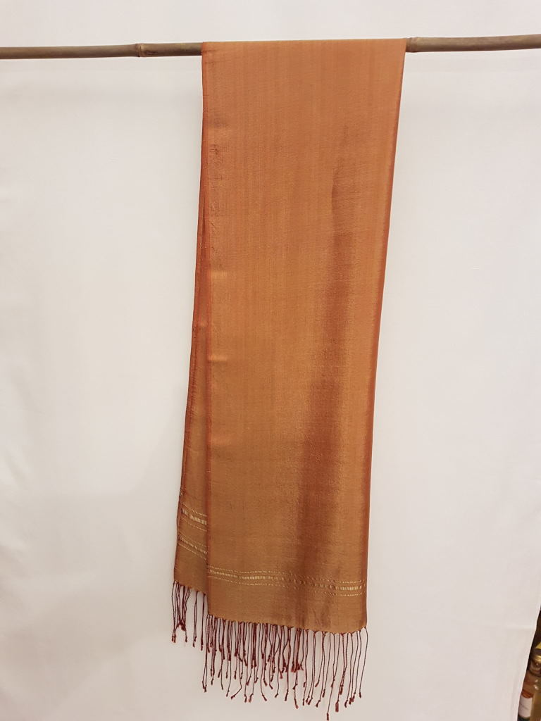 Silk scarf light brown